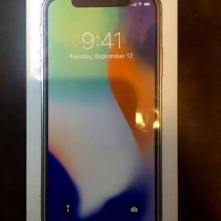 RUSH!! SEALED Iphone X / Iphone 10 64GB Silver