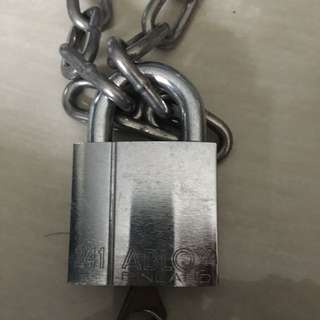 Abloy 241 lock with keys