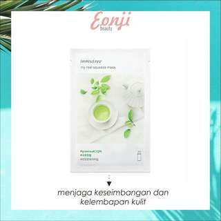 Inisfree my real squeeze mask green tea