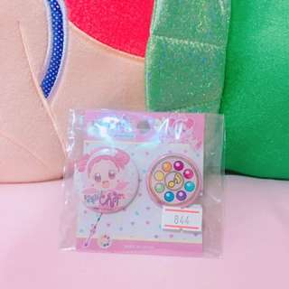 🎀小魔女DoReMi 日本代購 胸章 兩個一組