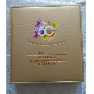 Singapore/Brunei 50th Anniversary Currency Interchangeability Agreement Limited Edition Notes Collection