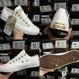 CONVERSE PASTEL WHITE/GOLD EDITION