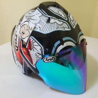 1601♡♡TSR SHINYA NAKANO v BLUE visor Helmet CONVERT TO ARAI 🦀 For SALE, Yamaha Jupiter, Spark, Sniper,, Honda, SUZUKI