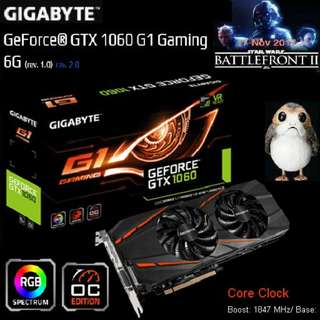 Gigabyte GTX 1060 G1 Gaming 6G  GeForce® Got Stock... (Hurry ..grab it a bit Quicker on CNY 1st, 2nd 3rd days...while stock last..)
