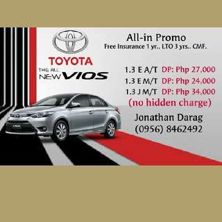 New Toyota Vios 2018 Low Down Payment