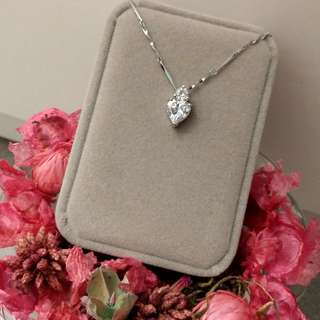 高貴鑲心型吊墜閃亮頸鏈 Elegant Noble Lnlaid Heat Pendant Shiny Necklace