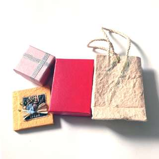 Gift Boxes & Bag & Notebook Set