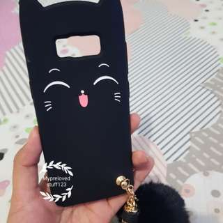 Black Kitty Soft Case Samsung S8