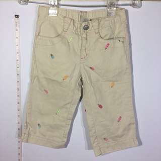 Gymboree Khaki Embroidered Pants