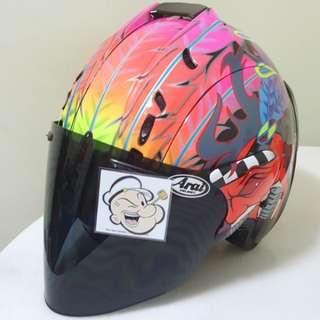 1502♡♡TSR RAM4 Scott Russell Helmet CONVERT TO ARAI 🦀 For SALE, Yamaha Jupiter, Spark, Sniper,, Honda, SUZUKI