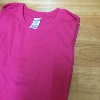 全新|Gildan桃紅色短袖上衣
