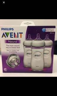 BNIB Philips Avent Natural Bottle 11oz 330ml - 3 in box