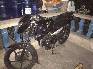Rouser 135  2011 model black with free LS2 helmet..