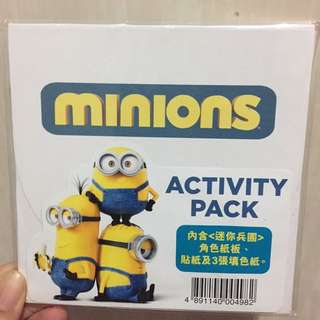Minion Activity Pack 填色紙貼紙角色紙版