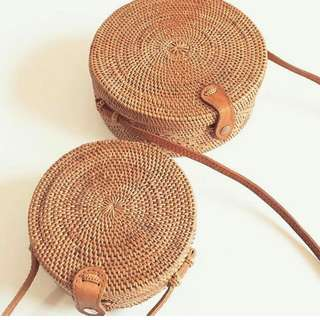 Plain Round Rattan bags AVAILABLE NEXTWEEK! PM ME FOR EARLY RESERVATION 😊