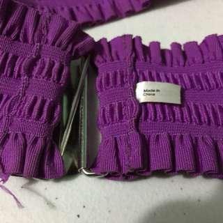 Original H&M wide elastic stretchy belt waistband ladies violet / purple
