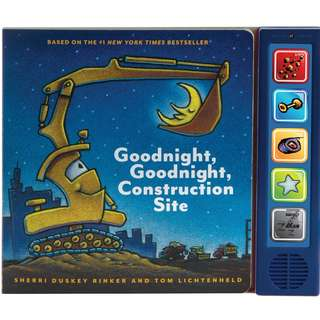 BRAND NEW Goodnight, Goodnight Construction Site Sound Book Hardcover