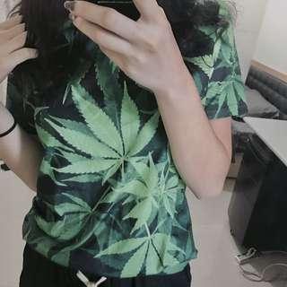 🚚 葉子印花T恤