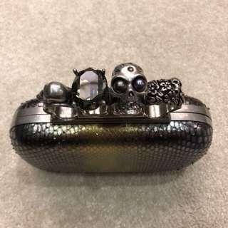Alexander McQueen python clutch
