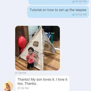Teepee playtent