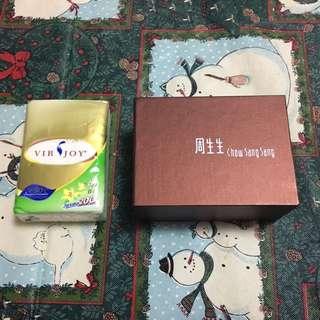 周生生頸鏈吊墜耳環盒 吉盒 Chow Sang Sang necklace pendant earrings box