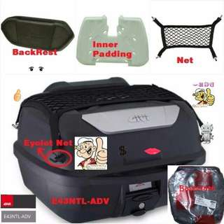 1502---GIVI BOX E43 NTL Mulebox For Sale !!!Brand New (YAMAHA, Honda, SUZUKI, ETC)