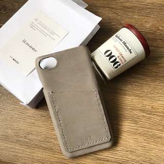 皮革班 皮革DIY 真皮 iPhone Case 電話殻 卡片套 情人節禮物 DIY手作