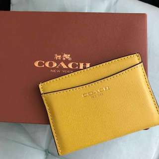 Coach card holder real leather