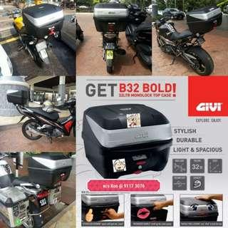 1502--- GIVI BOX B32 BOLD new model 😆😆😆 (YAMAHA SPARK,JUPITER, HONDA, SUZUKI)