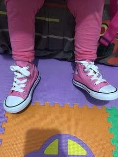 Converse CT Hi Kids Pink ukuran 23 (14 cm) ORI