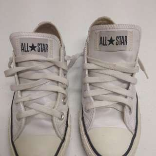 Authentic White Leather Converse for women