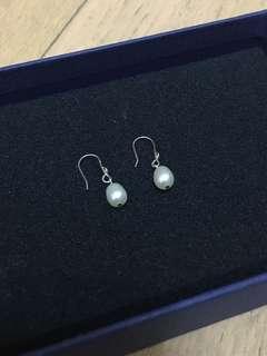 頸錬+珍珠耳環