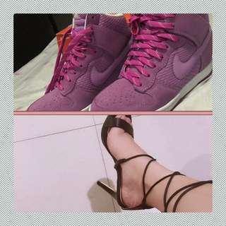 Bundle Authentic Nike Hidden wedge shoes and Zalora heels