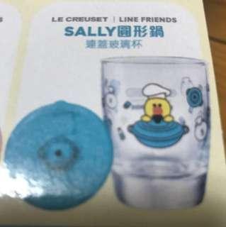 全新Line 7-11 系列 Sally 圓形鍋連蓋玻璃杯