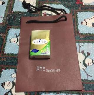 周生生紙袋吉袋禮物袋 Chow sang sang gift bag