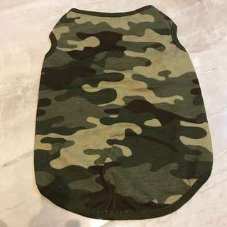 Green Army Camouflage Pets clothing