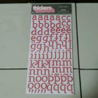 Thickers Alphabet Stickers at S$8