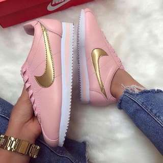 Nike Cortez Pink Gold For Women