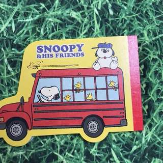 Snoopy & His Friends 📝 Memo Pad (Made In Japan)