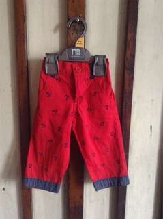Pre-loved Red Pants for Baby Boy