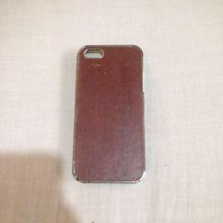 Brown Leather Hard Case