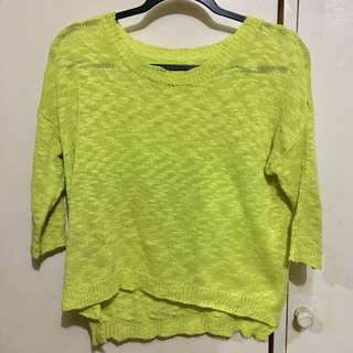 Neon Green Knitted Top