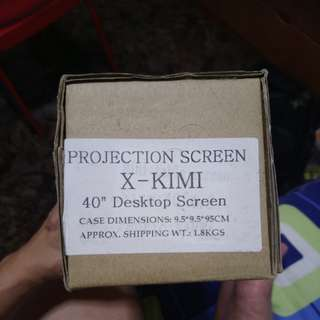 Portable standing projection screen 40""