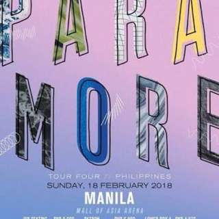 Selling 1pc Gen Ad ticket - PARAMORE IN MANILA 2018