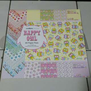 Crafterschoice happy owl paper 39 pack