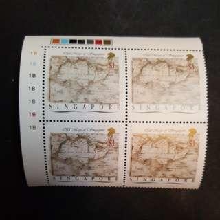 Singapore map. $1-$0.50-$0.15.