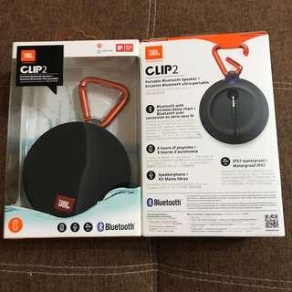 JBL Clip 2 Harman Portable Waterproof Bluetooth Speaker - Black