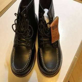 Alpha Industries Boot (Redwing, Danner Style) 黑色真皮Boot
