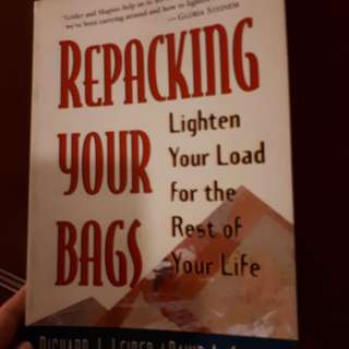 "Giving away self help book ""Repacking your bags"""