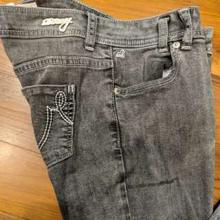 Roxy grey jeans tight fit stretchy material